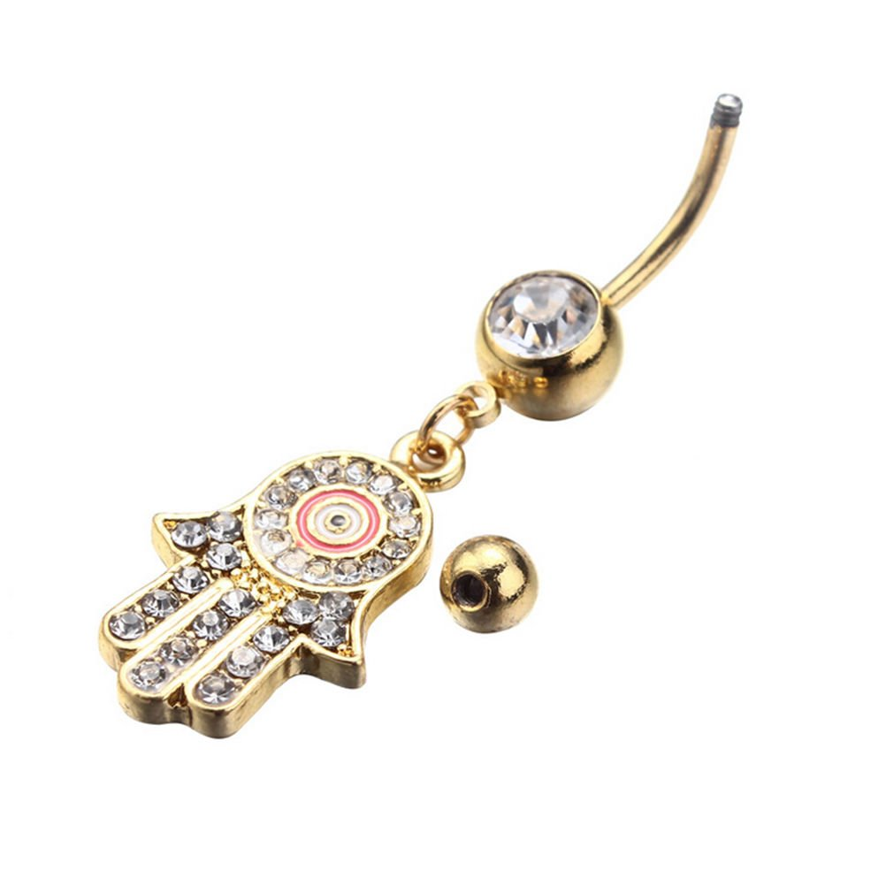 Galleon 1pc Hamsa Hand Navel Ring Evil Eye Belly Rings Body
