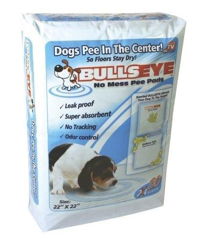 Bullseye Dog Pee Pads 22x22, 30 Count (Pack of 2) (Bullseye Dog Pads)