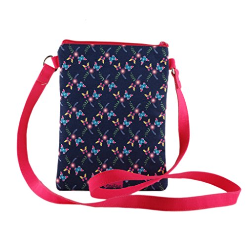 tote bag smooth Butterfly Bloom girls women travel purse Crossbody shoulder slingbag zipper qpx7Ea7Xw1