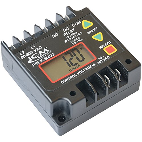 ICM Controls ICM492 Single Phase Monitor, 80-300 VAC, 5-Fault Memory, Lcd Setup And Diagnostics. by ICM Controls