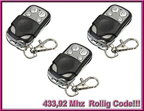 ! 3 x H/örmann RSC2-433//Hormann RSC2-433 Mando a distancia compatible reemplazo 433,92 Mhz 3 piezas para el mejor precio!
