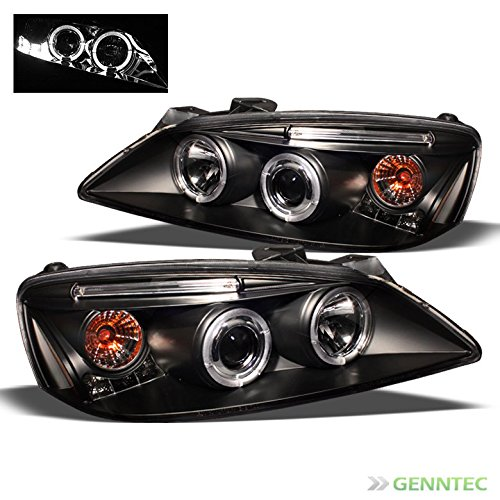 2005-2009-pontiac-g6-twin-halo-led-projector-headlights-black-head-lights-pair-left-right-2006-2007-