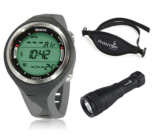 Mares Smart Dive Computer Wrist Watch + Phantom Aquatics Accessory Kit, BK-Gray (Smart Mares Wrist Computer Dive)
