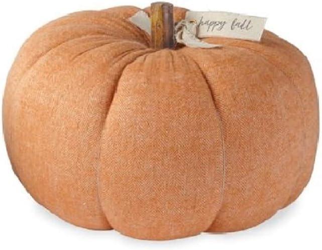 Mud Pie Home Gather Thanksgiving Felted Wool and Wood Pumpkin 40030001 Orange