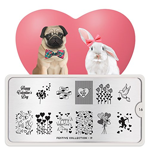 MoYou-London Nail Art Image Stamping Plate Festive Collection 19 Valentine US Stock from MoYou-London