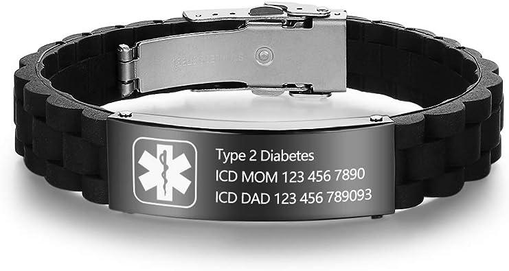 pulseras de alerta médica diabetes