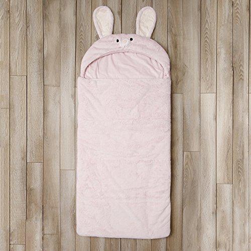 Toddler Sleeping Bag Kids Plush Bunny Rabbit Faux Fur Gift Slumber Bag (Pink) by BearBag (Image #2)