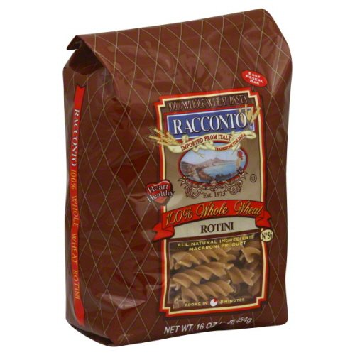 Racconto Whole Wheat Rotini Pasta, 17.6 Ounce (Pack of 6)