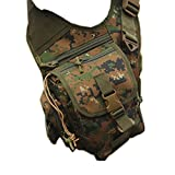sougayilang Outdoor Sports Multifunction Lure Bag Fishing Rod Tackle Bag Waist Pack Camping Hiking Moutaineering--Army Green