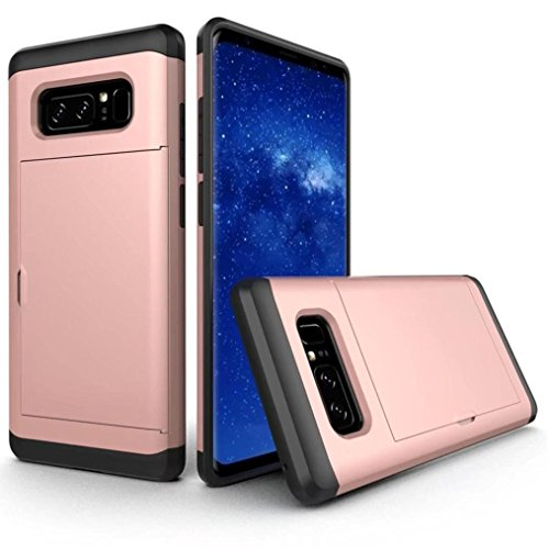 Bescita Ultra Slim Armor Soft Rugged Case Cover Schutz Tasche Kratzfeste Handyhülle Für Samsung Galaxy Note 8 Roségold lnT3t0b