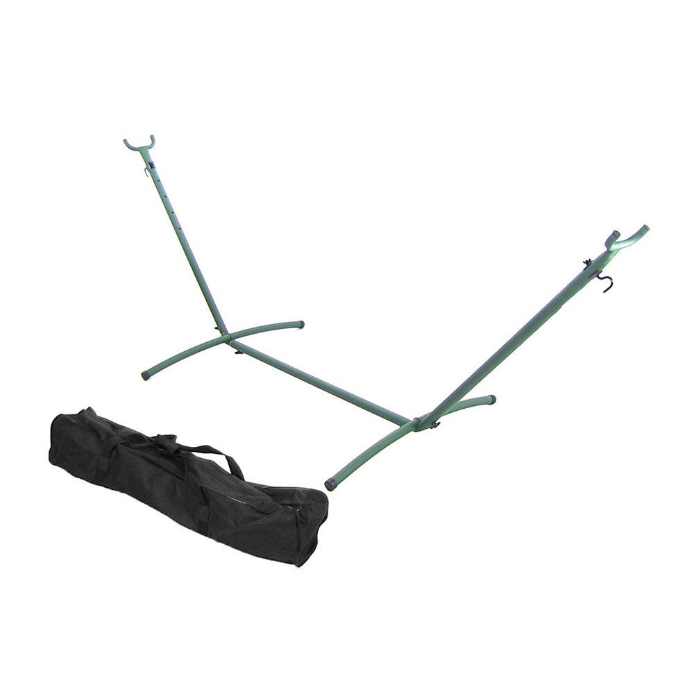 Sunnydaze 2-Person Space Saving Brazilian Hammock Stand Only, Portable Carrying Case, Heavy Duty 400 Pound Capacity, Black Sunnydaze Decor 1506-UN9HS-BLACK