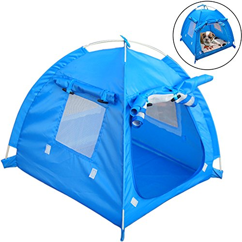 OLizee Breathable Washable Pet Puppy Kennel Dog Cat Folding Indoor Outdoor House Bed Tent