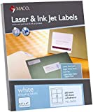 MACO Laser/Ink Jet White Shipping Labels, 3-1/3 x 4 Inches, 6 Per Sheet, 600 Per Box (ML-0600)