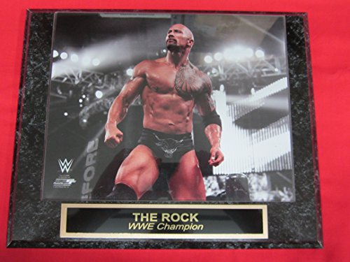 WWE The Rock Engraved Collector Plaque #2 w/8x10 Photo WWE CHAMPION