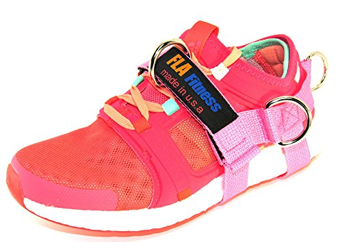 Glute Kickback by FLA Fitness – Ankle Strap -Handmade in USA – 5 D-Rings (single) (Pink, Large)