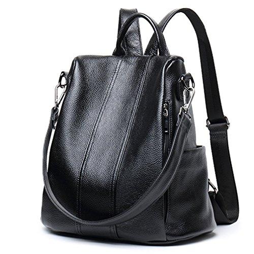 Leather Backpack Handbags - 5