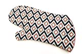 Blue and Pink Southwest Style Quilted Oven Mitt