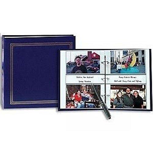 3-ring 2-up slip-in pocket NAVY-BLUE binder album 4x6 (400 photo)