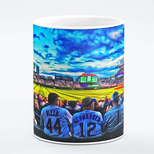 - Chicago Fine Art Mug. Wrigley Field With Chicago Cubs Fans. Unique Limited Edition Painting Print Mug. Ideal Souvenir or Gift For Any Chicago Lover, Men Women, Boys Girls. 11 ounces.