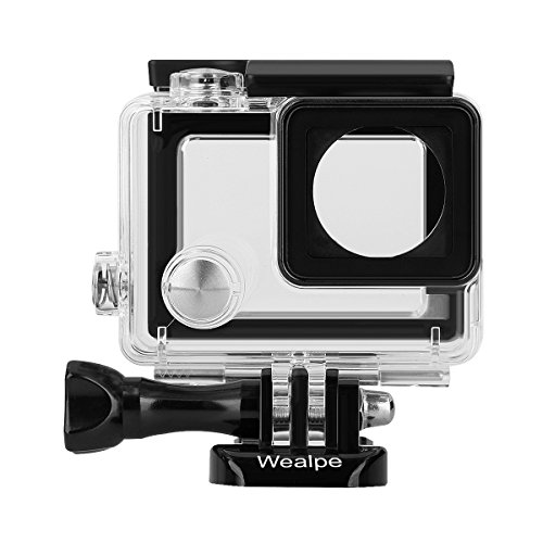 Wealpe Skeleton Housing Case Side Open Protective Housing with LCD Touch Backdoor Compatible with GoPro Hero 4, 3+, 3 Cameras