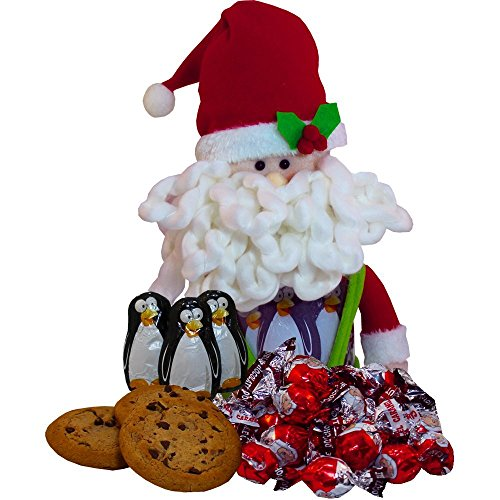 Art of Appreciation Gift Baskets Jolly Santa Chocolate and Candy Jar (Candy Gift Baskets Girl compare prices)