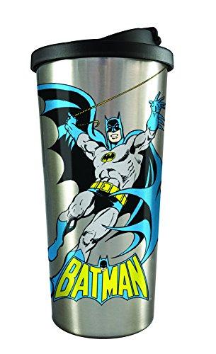 Spoontiques 20833 Batman Stainless Steel Travel Mug, Silver -