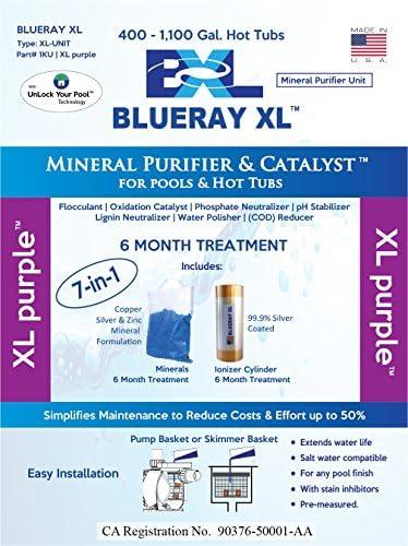 Blueray XL – XL morado | Mineral purificador cartucho Catalizador ...