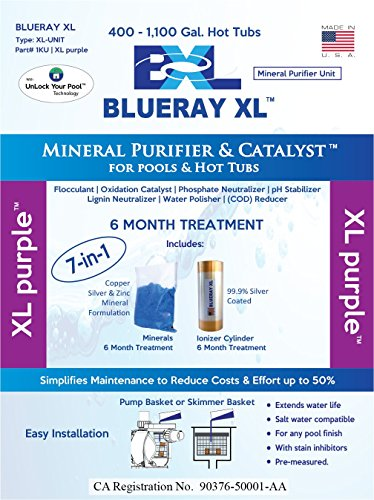 Blueray XL - XL Purple   Mineral Purifier & Catalyst for Pools & Hot Tubs (Blue-ray-xl)
