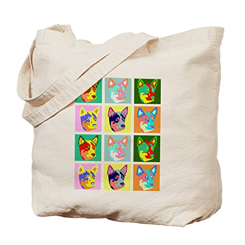 CafePress–Australian Cattle Dog Pop Art–Gamuza de bolsa de lona bolsa, bolsa de la compra