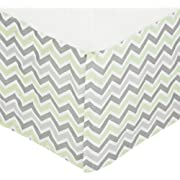 American Baby Company 100% Cotton Tailored Crib Skirt with Pleat, Celery