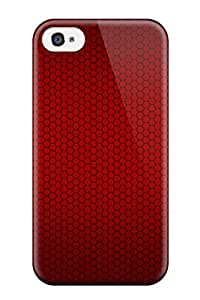 Hot Tpu Cover Case For Iphone/ 4/4s Case Cover Skin - Red