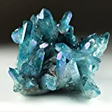 Astro Gallery Of Gems Aqua Aura Quartz Cluster - 230. 6 Grams