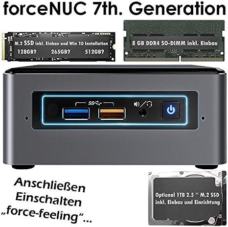 NUC de Intel, i3 i5 i7, 8 GB DDR4, 128 256 GB SSD M.2 +