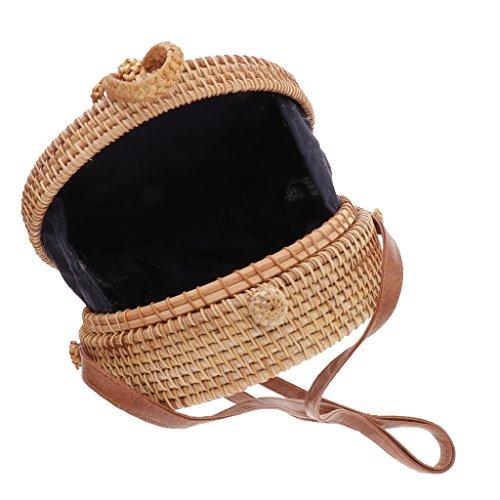 P Shoulder Shopping Beach Tote Straw Prettyia Handmade Friendly Bag Bohemia Women Eco Handbag Fashion Rattan rzrTqaw