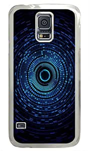 Abstract Blue Space Orb Custom Samsung Galaxy S5 Case and Cover - Polycarbonate - Transparent