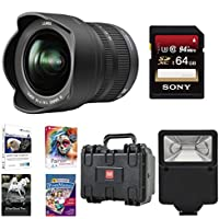 Panasonic 7-14mm f/4.0 Micro Four Thirds Lens for Panasonic Digital SLR Cameras with 64GB Accessory Bundle