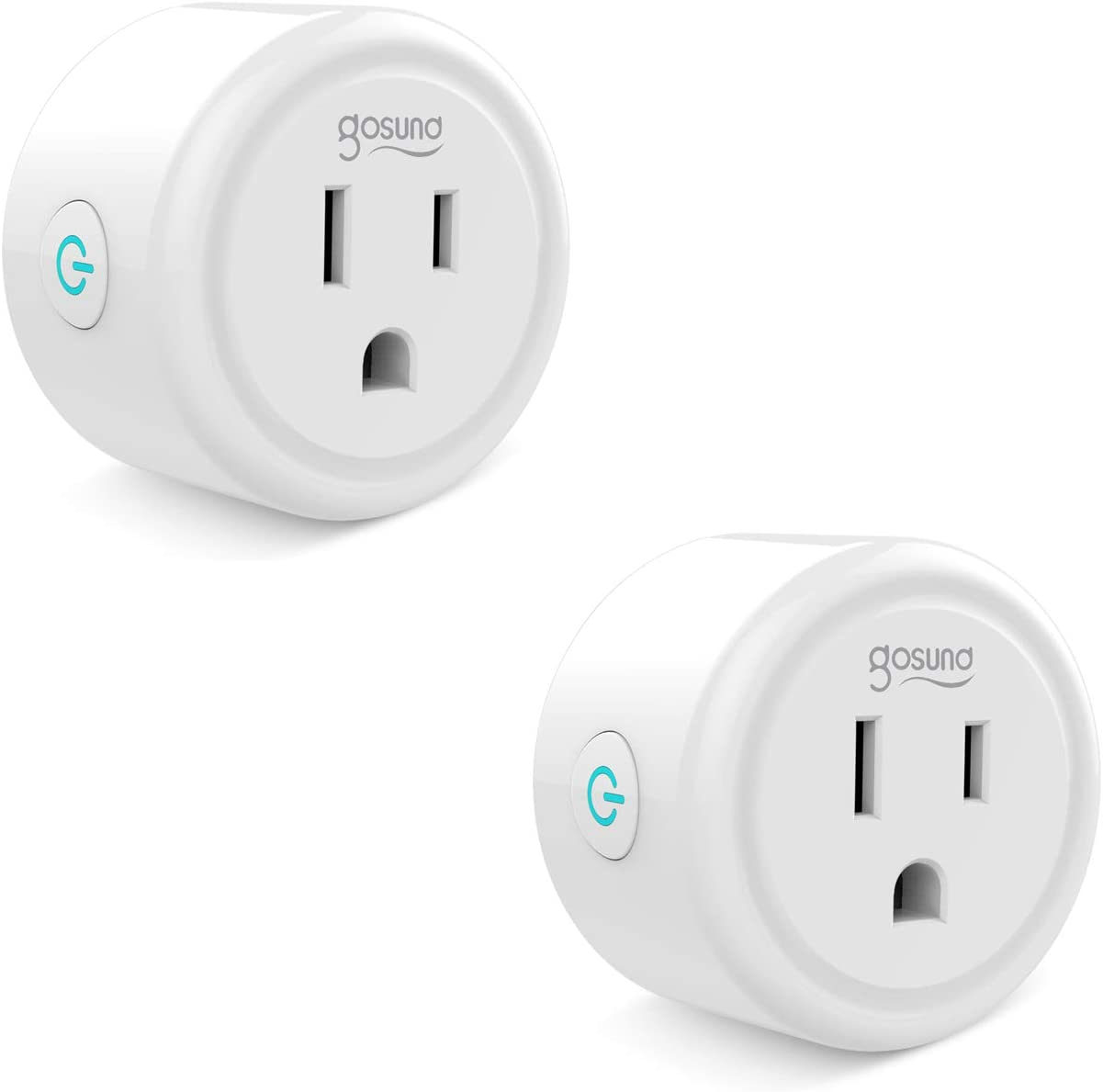 Gosund Smart Plug Compatible with Alexa, Google Home, Smart Outlet No Hub Needed (2Pack)