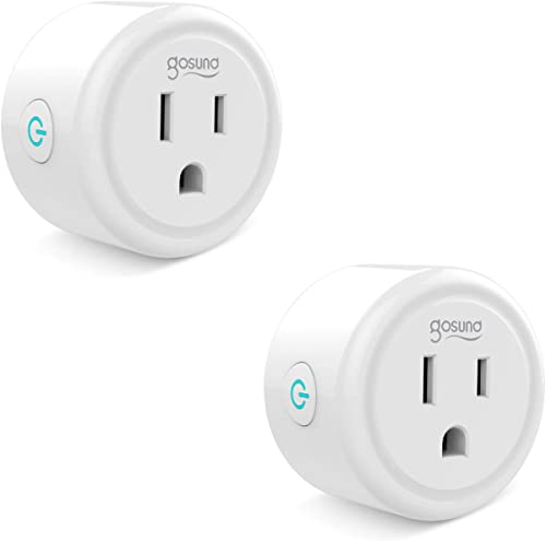 Gosund Smart Plug Compatible with Alexa, Google Home, Smart Outlet No Hub Needed 2Pack