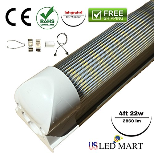 4ft 22w Integrated T8 Replacement LED Tube Light 6500K / ...