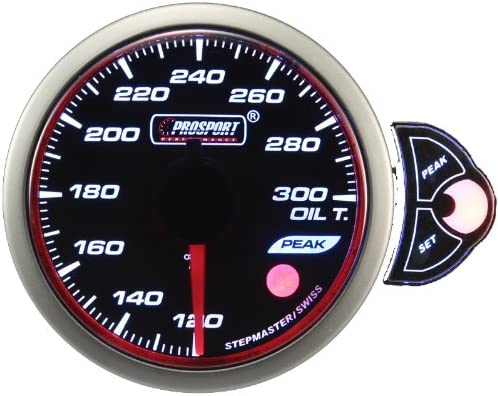 """2 1//16/"""" With Peak//Warn dimmable Halo Water Temp Gauge Amber//White//Blue 52mm"""