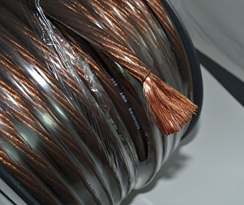 4 GA BLACK POWER WIRE PRIMARY GROUND 250FT COPPER MIX CABLE CAR AUDIO AMPLIFIER by Audiopipe (Image #1)'