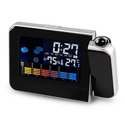 Amazon.com: Digital Weather LCD Snooze Alarm Clock Projector ...