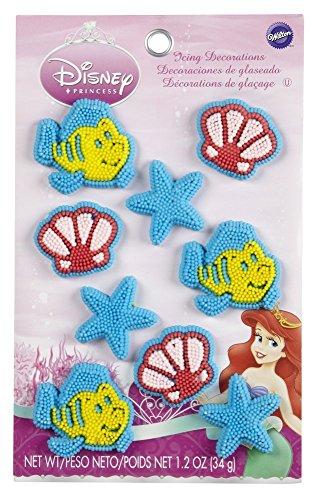 Wilton 710-4355 Disney Princess Ariel Icing Decorations (Halloween Cupcakes Decorations Uk)