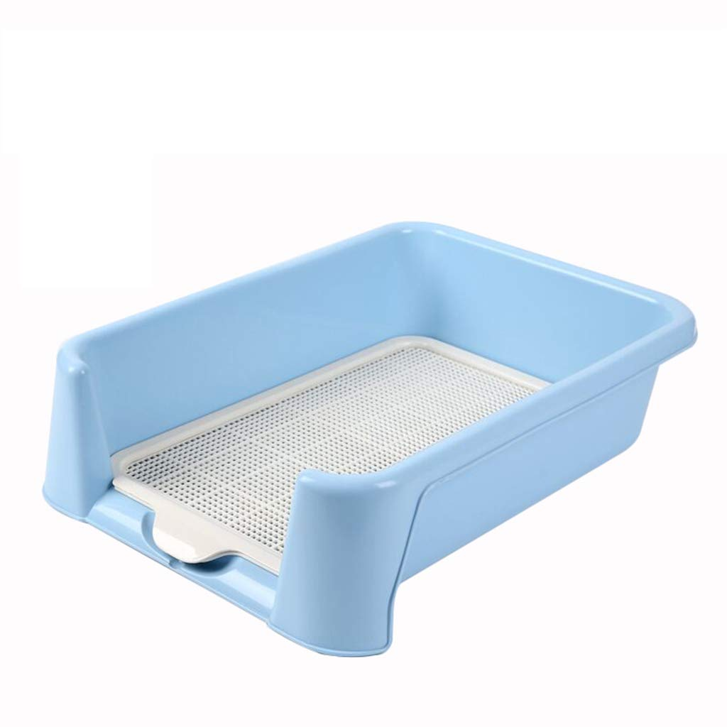 bluee 5642cm bluee 5642cm Kf Indoor Dog Puppy Fenced Plastic Potty Training Dog Toilet With Fence And Target Pet Urinal Toilet (color   bluee, Size   56  42cm)