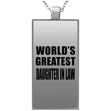 Amazoncom Designsify Worlds Greatest Daughter In Law Rectangle