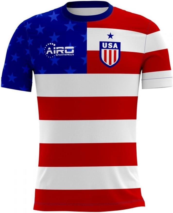 Airosportswear 2020-2021 USA Home Concept Football Soccer T-Shirt Jersey