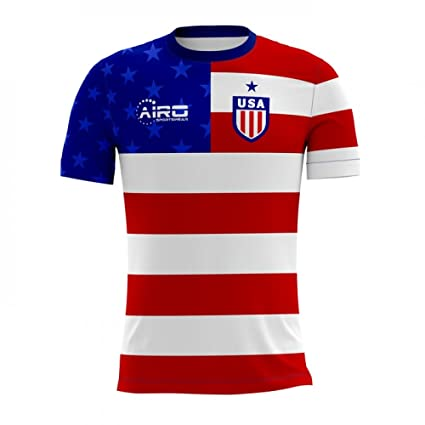 3d2c3b9cc Amazon.com : Airo Sportswear 2018-2019 USA Home Concept Football Soccer T-Shirt  Jersey : Clothing