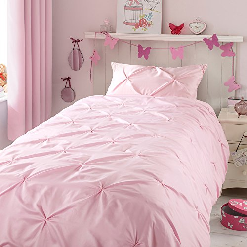 ZIGGUO Kids Duvet Cover Twin, No Comforter, Blush