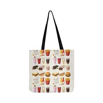 Conjunto de iconos de comida rápida de dibujos animados de ...