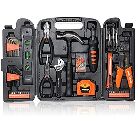 SWITCHEDGE 129 Piece Tool Set for Home and Travel (3 16 Allen Wrench Long)